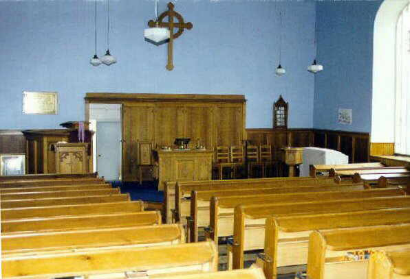 The interior of the former Newbigging Church, Angus, Scotland