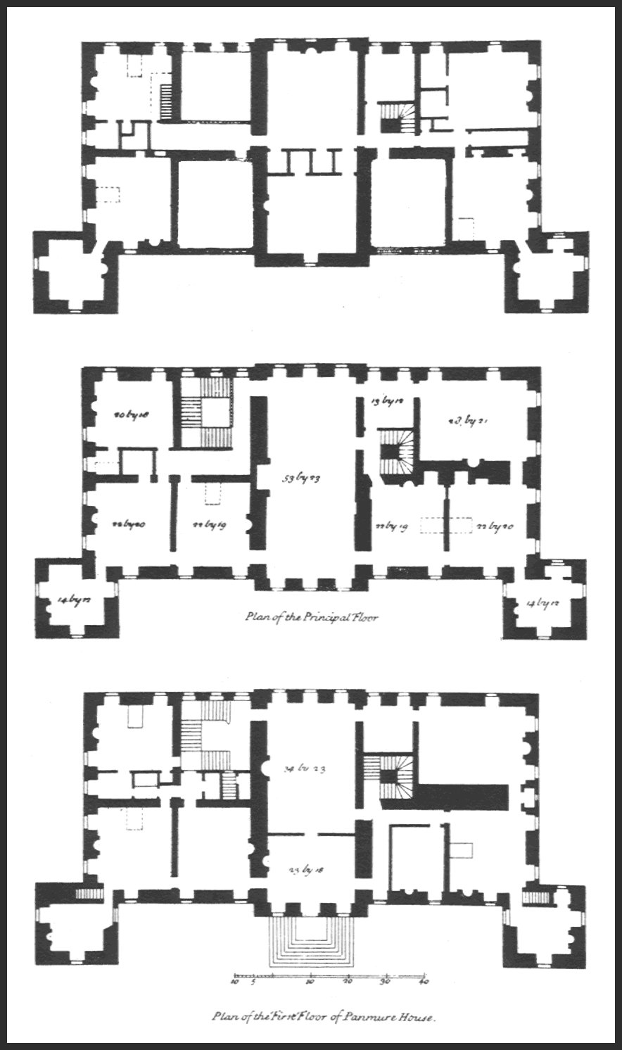 Panmure House Floor Plans (This graphic may be enlarged)