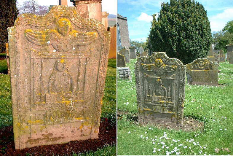 A gravestone considered one of the most noteworthy in Scotland,